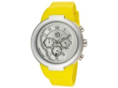 Unisex Yellow Silicone Watch