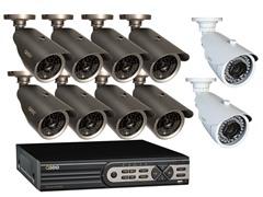 16CH DVR Sys w/10 Weatherproof Cams & 1TB HD
