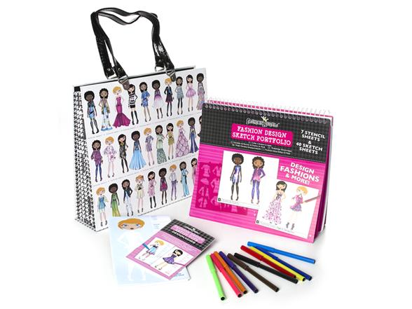 Fashion Design Artist Tote Portfolio Kids Toys