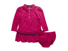 Dark Pink Pique Dress (3-9M)