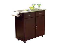 TMS Large Kitchen Cart w/SS Top