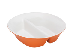 "12"" Divided Dish - Orange or Green"