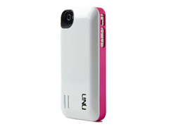 iPhone 4/4s Battery Case - White/Pink