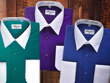 Berlioni Men's Two-Tone Dress Shirts