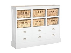 Nantucket Storage Cabinet - Ant White