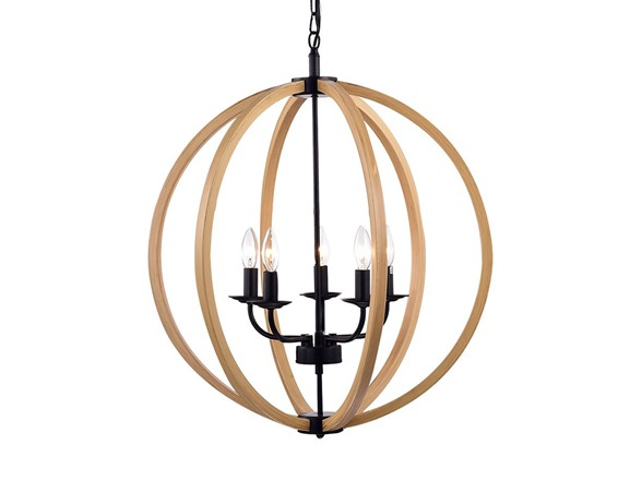 fedelmid natural wood round pendant lamp. Black Bedroom Furniture Sets. Home Design Ideas