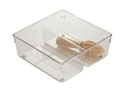 InterDesign  Linus 8x8x3 Clear Twin Drawer Organizer