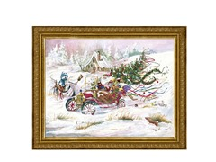Santa's 1909 Ford (2 Frame Colors)