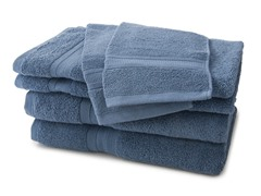 MicroCotton 6-Piece Towel Set - Blue
