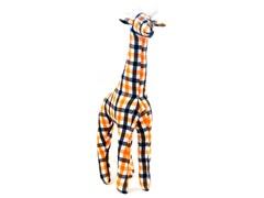 Grady the Giraffe- Orange & Black Plaid