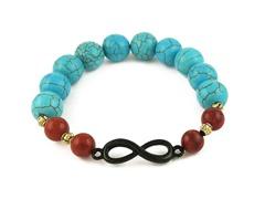 Genuine Turquoise Infinity Bracelet
