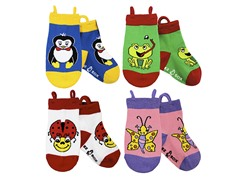 4-pk Socks - Penguin & Friends (S-L)