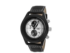Black Genuine Leather Chronograph