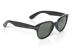 Round Wayfarer Sunglasses - Black