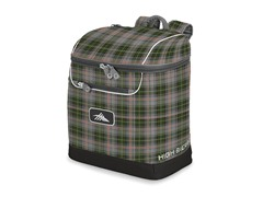 Bucket Boot Bag - Green Gray Plaid/Black