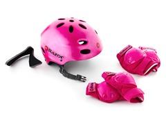 Razor Helmet & Pad Combo, Satin Pink