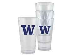 Washington Plastic Pint Glasses 4-Pk