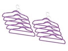 Purple Fleece Hanger 120-Pack