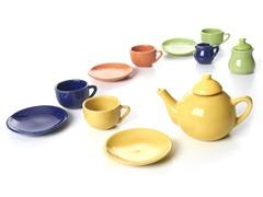 Children's 13-Pc Porcelain Tea Set