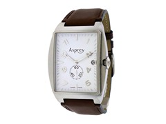 No 8 Rectangular White Dial Watch