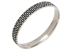 Stainless Steel 5-Lines Crystal Bangle