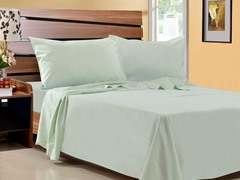 Microfiber Sheet Set-Set of 2-Green-Queen