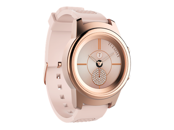 "Image of 3plus ""callie"" Hybrid Smart Watch - Rose Gold"