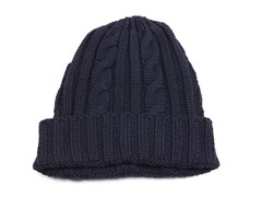 MUK LUKS ® Men's Knit Cable Cuff Hat, Navy