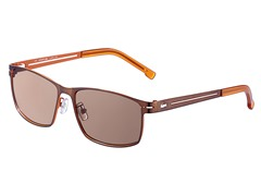 Metal Aviator, Brown/Orange