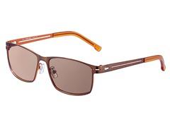 Metal Aviator, Brown/Orange