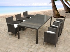 Outdoor Wicker 7-Piece Dining Set