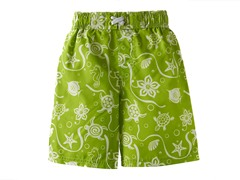 Green Print Swim Short