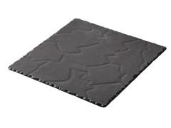"Basalt Square Plate 11.75"" x 11.75"""