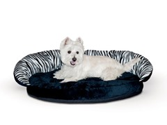 Plush Bolster Sleeper Zebra - Small