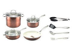 Kevin Dundon 11 Piece Cookware Set Copper