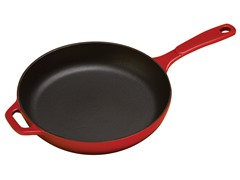 Enameled Cast Iron Skillet - Red