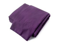380TC Percale Sheets-Plum- Queen