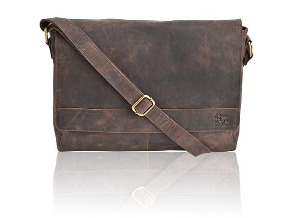 a2112aac2c Estalon Leather Messenger Bag