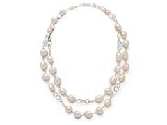 SS White Freshwater Pearl Necklace