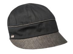 Hydrangea Newsboy Cap, Black