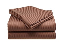 300 Thread Count Cotton Sateen Sheet Set  - Brown