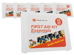 33-Piece First Aid Kit 6-Pack