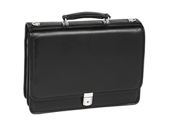 Bucktown Leather Double Compartment Briefcase