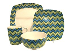 American Atelier ZigZag 16pc Set - Blue