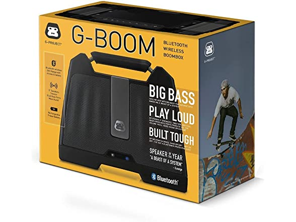 Image of G-project G-boom Wireless Bluetooth Boombox