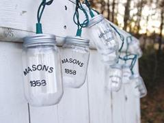 10 Count XL Mason Jar String Lights