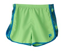 Girls Printed Short - Green Bubble Skin