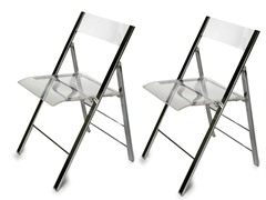 Macbeth Acrylic Foldable Chair Set of 2
