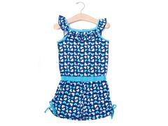 Blue Hearts Knit Romper (2T-4T)