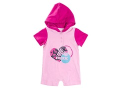 RBX Hooded Heart Logo Romper (12-24M)